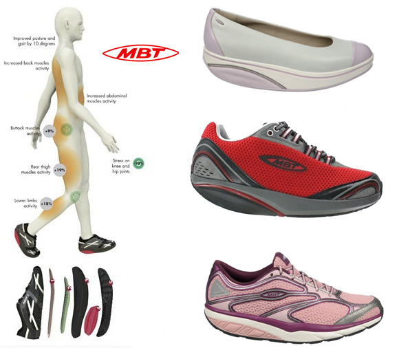 Wearing MBT Physiological Footwear by